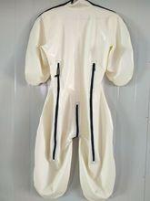Gommi Latexanzug Zentai Catsuit caoutchouc Cosplay blanc body 0.4mm taille S-XXL