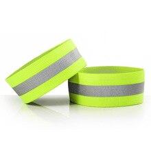 1Pc Cycling Reflective Strips Warning Armband Safety Reflector Tape Straps for Night Walking Biking