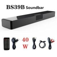 Саундбар большой мощности 40 Вт, Bluetooth-динамик, многофункциональный FM-радио, музыкальный центр для домашнего кинотеатра, светодиодный диспле...