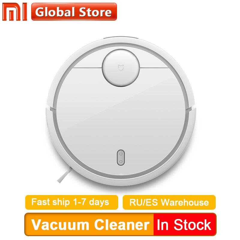Versão global xiaomi mi robô aspirador de pó para casa automático varrendo com telefone mijia wi fi controle remoto poeira esterilizar