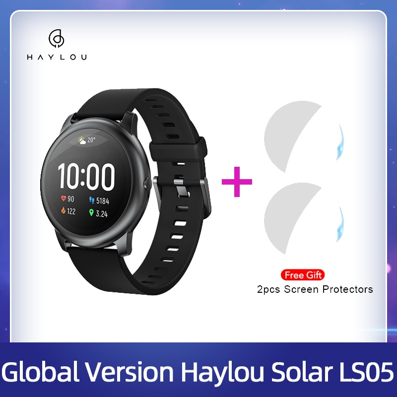 Haylou Solar Smart Watch LS05 Heart Rate Sleep Monitor IP68 Waterproof 30 Day Battery iOS Android Sp