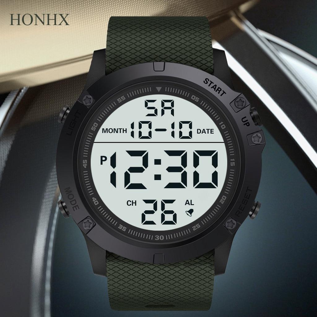 Fashion Men's Military Sports Watch Luxury LED Digital Water Resistant Watch montre en bois reloj ma