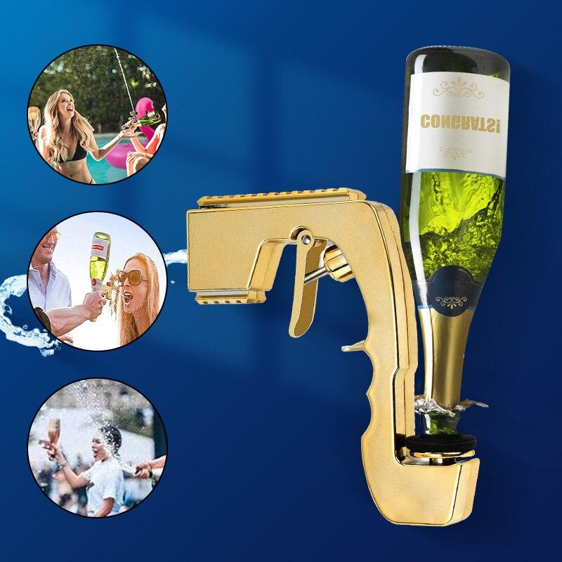 1PC Wine Stopper Champagne Wine Dispenser Bottle Beer Ejector Feeding Bottle Beer Champagne Gun Magic Wine Decanter Sprayer