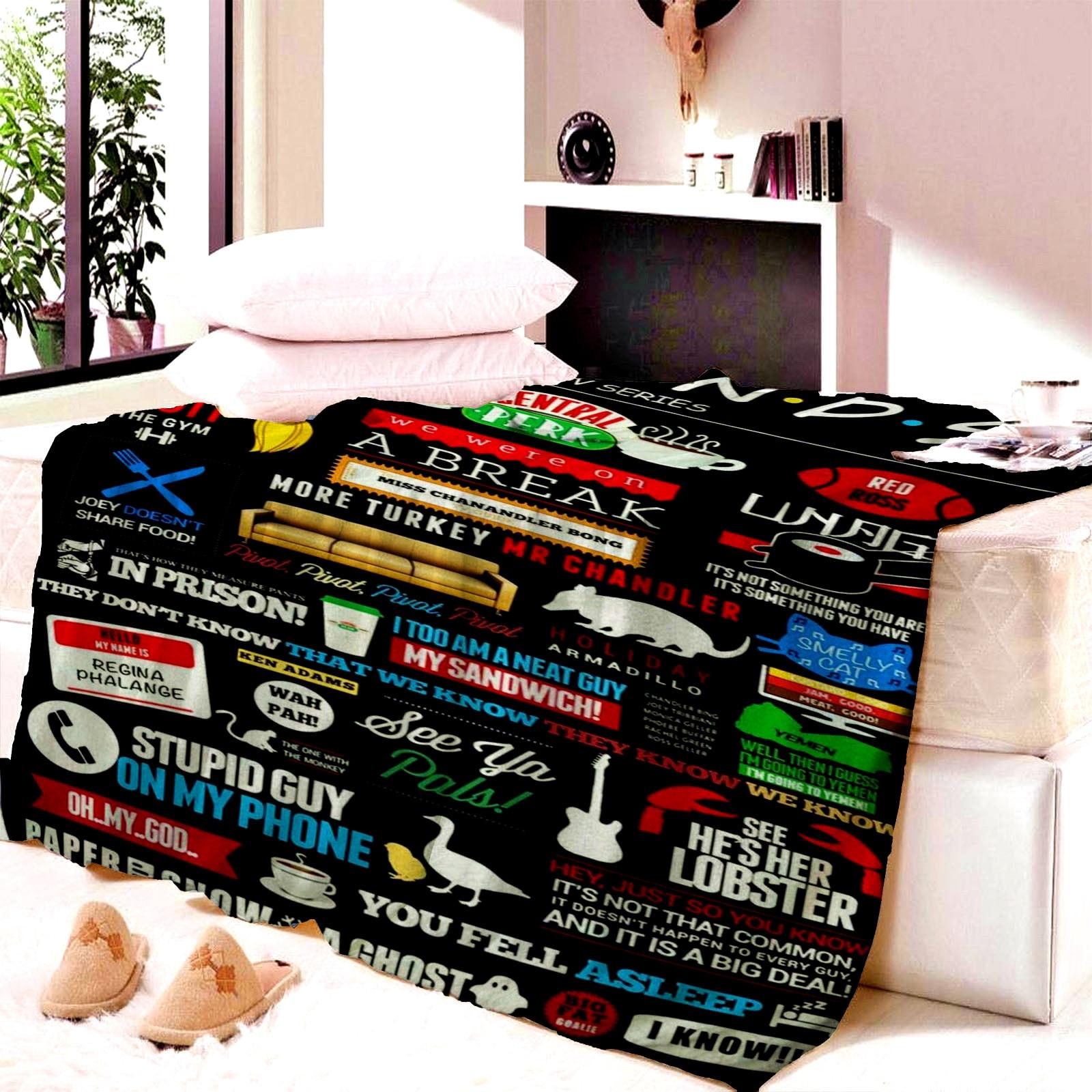 Friends Central Perk manta tapete para niño tapiz suave pared colcha playa toalla estera manta Mesa playa toalla