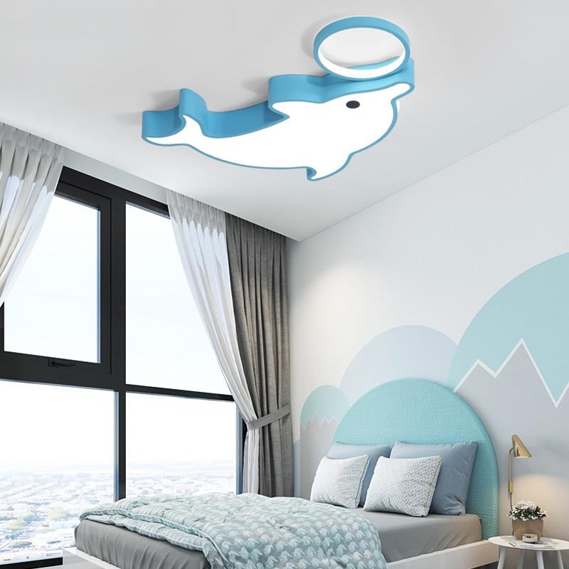 Lámpara de techo Nolvelty Dolphine para dormitorio infantil, accesorios de iluminación, lámpara de techo para habitación de niños, lámpara de luz Led para habitación de bebé