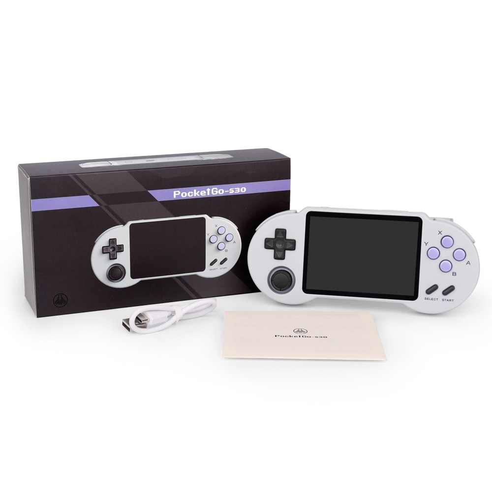 Pocketgo Handheld Game Player 32G 3000 Games Retro Game Console Classic For GB/GBC//PS/MD Gaming Console Box Kids Gifts Players enlarge
