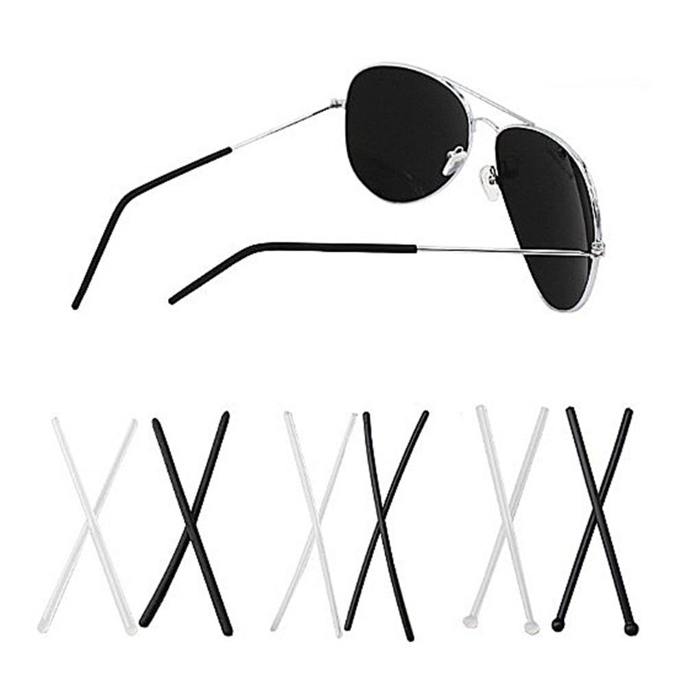رؤوس النظارات المصنوعة من السيليكون الناعم ، 200 قطعة (100 زوجًا) ، والمعبد المعدني ، وأطراف النظارات ذات الفتحات