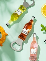 Милые Креативные открывалки для бутылок Мультяшные забавные многофункциональные открывалки для пива магнит на холодильник Открыватель дл...