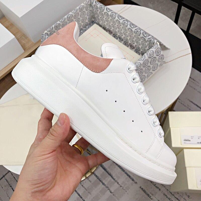 2021 primavera designer cunhas sapatos brancos plataforma feminina tênis tenis feminino casual mulher formadores sapatos mcqueens