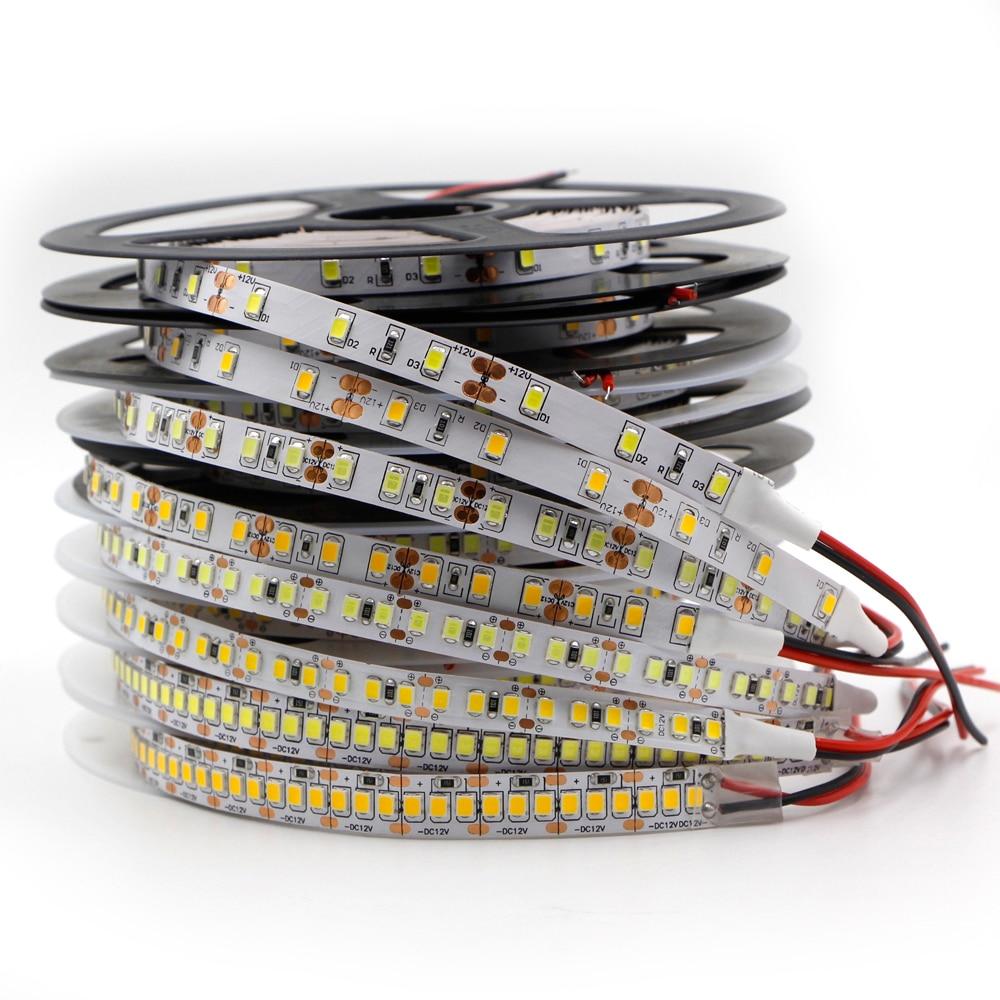 5 м CRI 80 узкая ширина 2835 Светодиодная лента 5/8/10/15 мм Печатная плата 120/240/480led/m DC12V