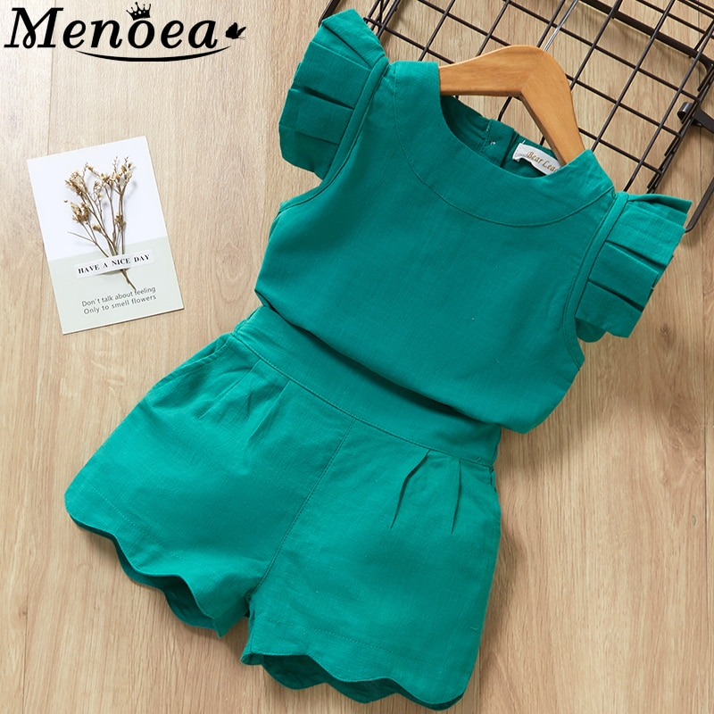 Kids Girls Clothing Sets Summer New Style Brand Baby Girls Clothes short Sleeve T-Shirt+Pant Dress 2