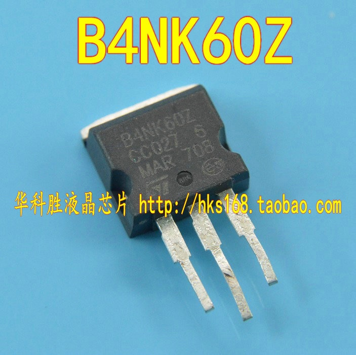 B4NK60Z MOS líquido envío 4NK60 cristal gratis tubo parche TO-263