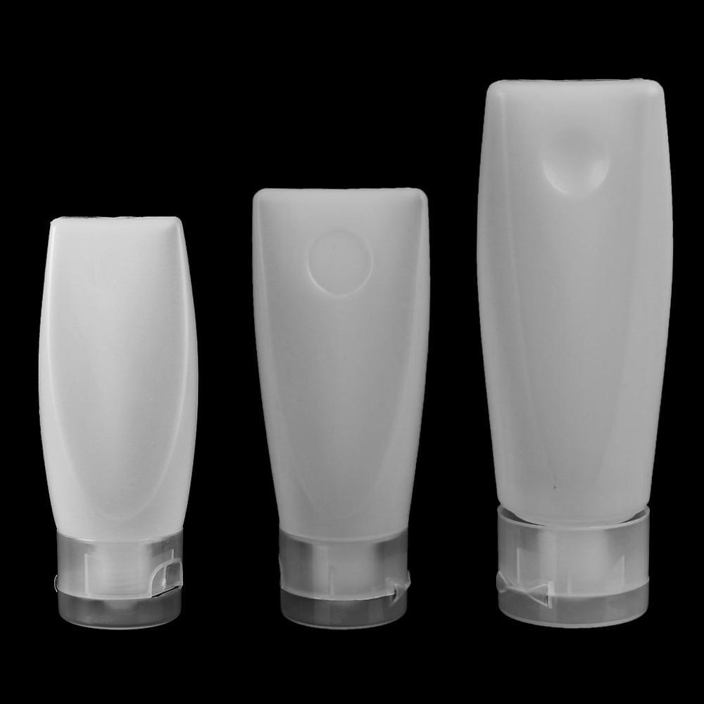 25/40/60g Empty Plastic Portable Tubes Squeeze Cosmetic Cream Lotion Travel Bottle Refillable White Durable Bottle