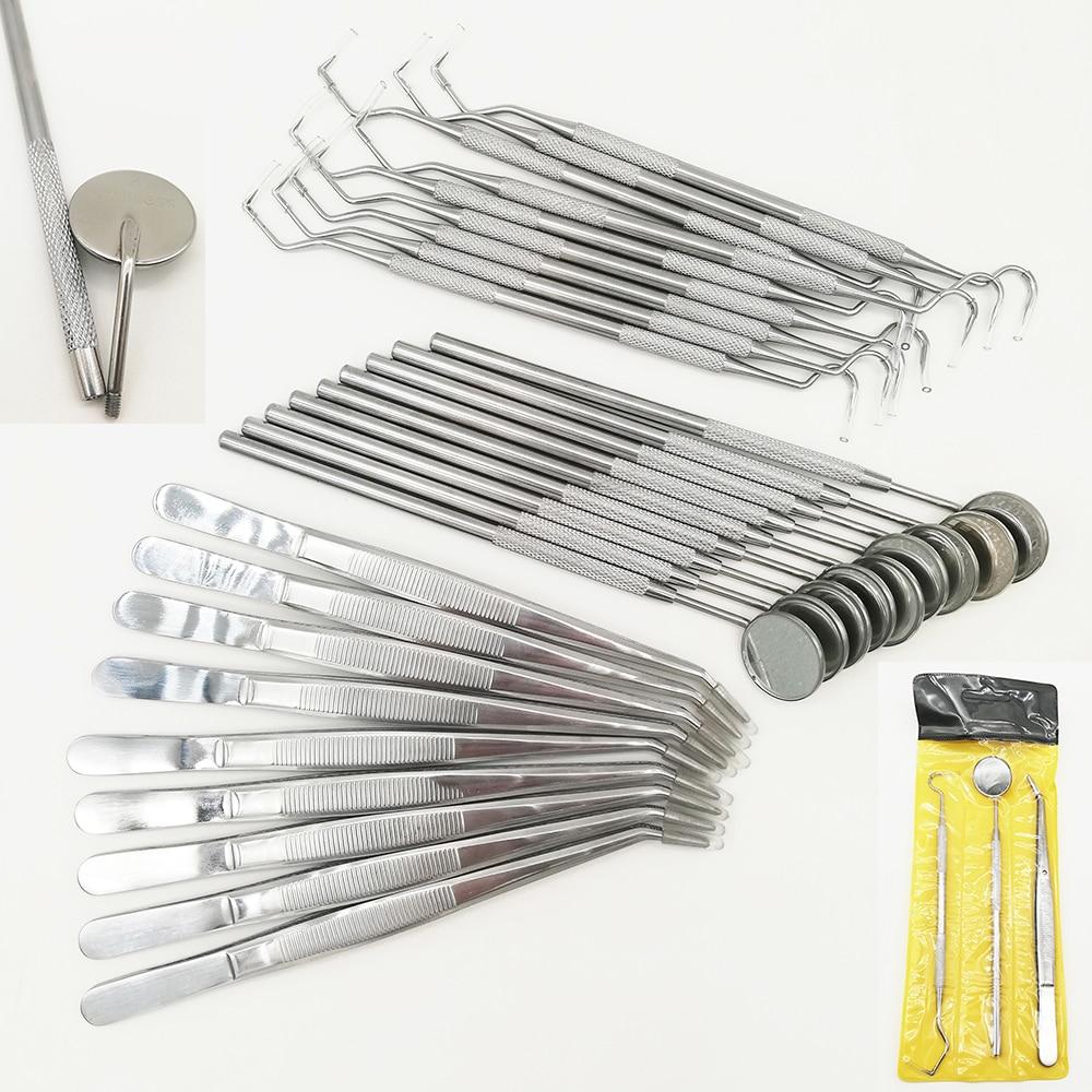 Набор зубных зеркал для стоматологии, набор стоматологических принадлежностей 3 шт./набор