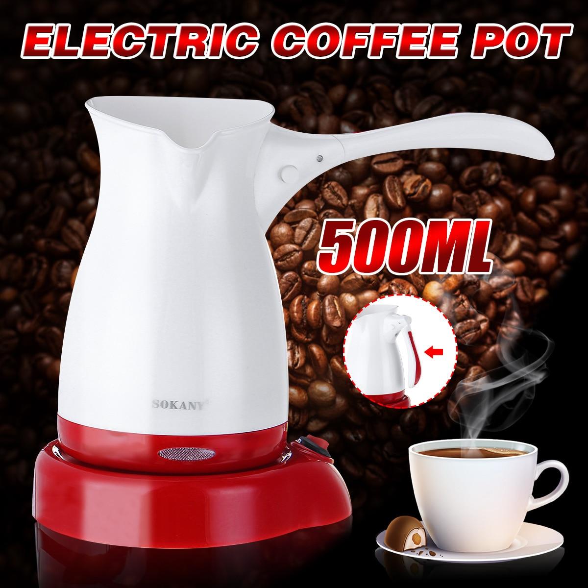 Фото - Портативная электрическая кофеварка, 600 Вт, Турецкая греческая кофеварка для эспрессо из нержавеющей стали, раздельная кофеварка для эспре... кофеварка