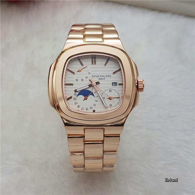 Men's Watches Top Fashion Brand Quartz Wristwatches Round Dial Automatic Date Stainless Steel Strap