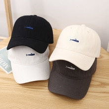 Fashion Harajuku Fish Embroidery Baseball Cap For Women Men Girls 2021 Unisex Hip Hop Snapback Caps