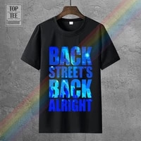 mens short sleeve graphic crew neck backstreet boys rock band as long as you love me song district tee shirt