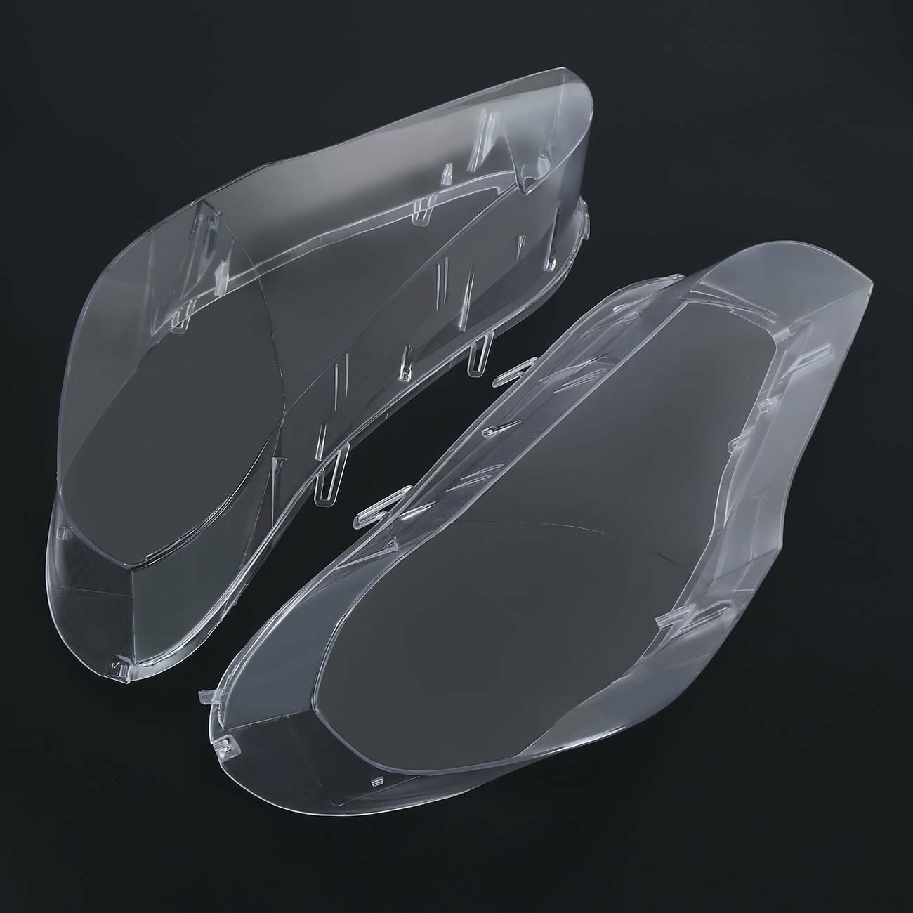 Samger 2Pcs Headlamp Lens Cover Car Headlight Lens for BMW 5 Series E70 2007-2013 Left + Right