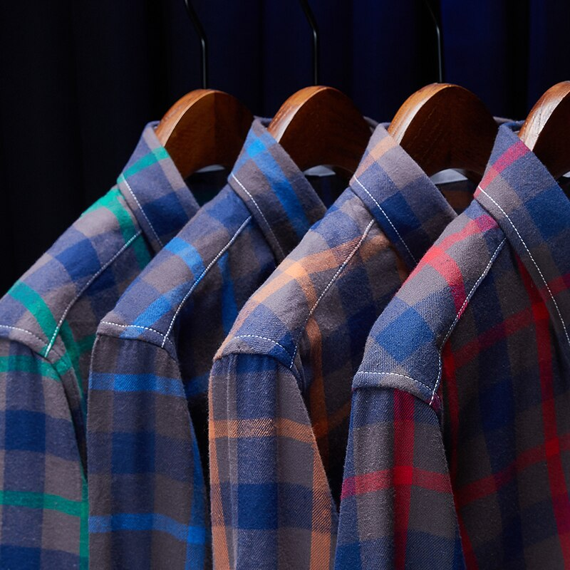 Novedad de 2020, camisa a cuadros Oxford de talla grande 5XL para hombre, camisa de manga larga informal de negocios a la moda, ropa de marca masculina