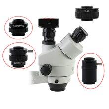 Adaptateur de caméra CMOS pour microscope stéréo trinoculaire SZMCTV 1X1/2X1/3X 0.5X