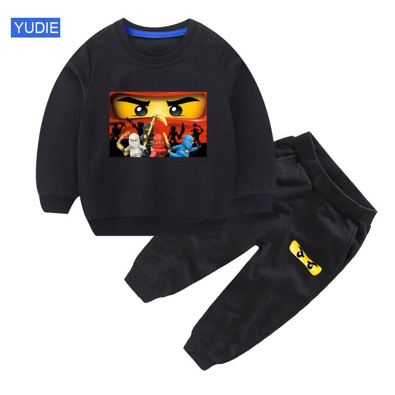 Kids Sets Legoe-Ninjago Cartoon Sweatshirts Spring Autumn Children Clothing Boys Casual Sports Pants 2pcs 2020 Kids Tracksuits