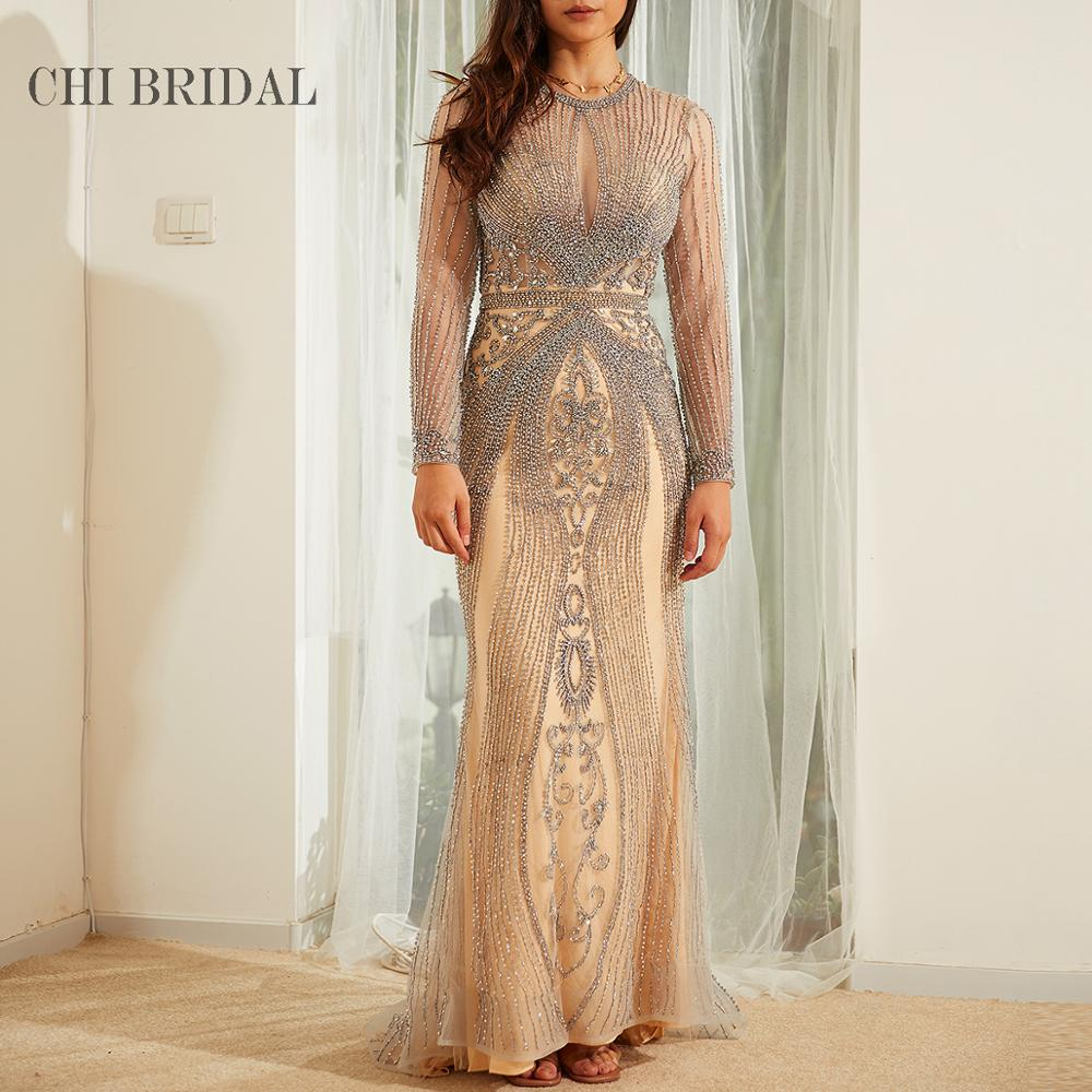 Neckline Hollow Sexy Evening Dress Handmade Luxury To Show The Perfect Curve Tail Long Dress Ladies Party Dress 1005001666021484 фото