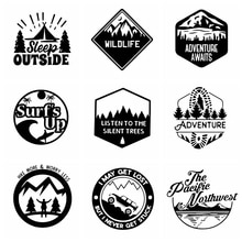 Car Stickers, Motorcycle Decals Artoon Mountain Car Decorative Accessories,to Cover Scratches Sunscr