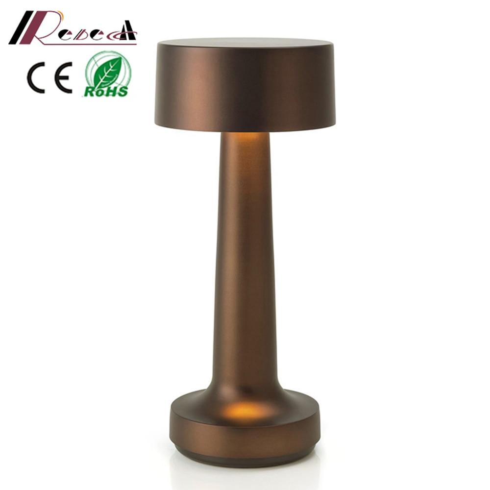 Restaurant Table Lamps Vintage Bar LED Night Lights Portable Battery Chargeable Desk Light Bedroom Bedside Lamp Decor
