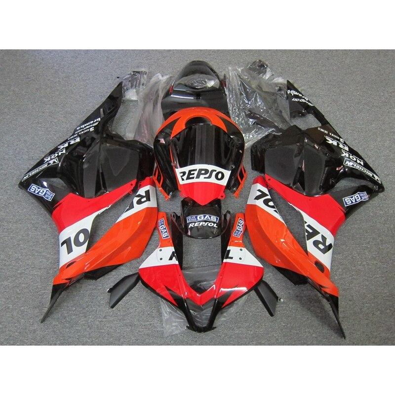 إطارات عالية الجودة لسيارة Honda CBR600RR 2009 2010 2011 2012 (أسود برتقالي) cbr 600rr 09 10 11 عدة هدايا للحقن China72