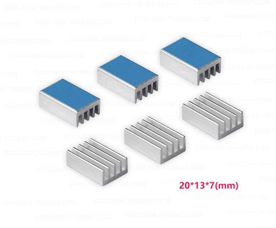 Disipador de calor de aluminio plateado adhesivo térmico 3m8810 20 longitud 13 anchura 7mm de alto