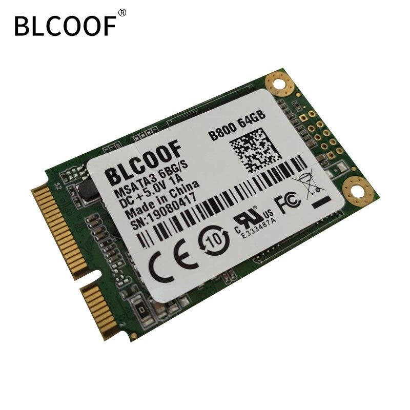 Msata 64GB SSD SATA Hard Drive internal hdd Highest Performa B800 msata Disk Internal Solid State Drive BLCOOF  laptop hard disk