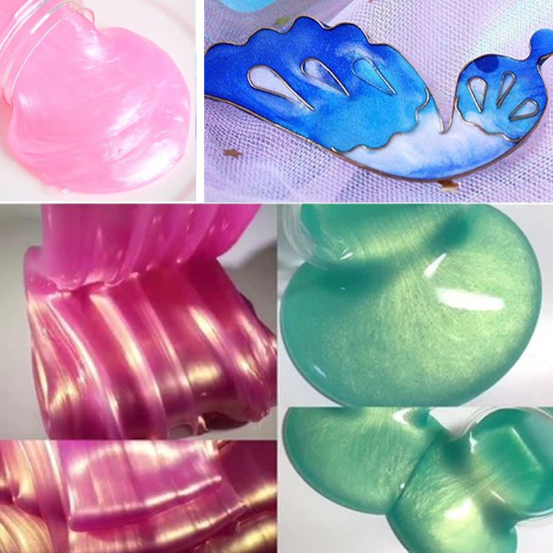 Fluorescent Glow-in-the-Dark Powder & Pearl Pigment Set Resin Jewelry DIY Craft enlarge