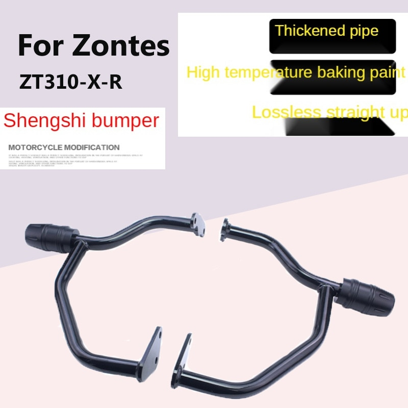 For Zontes Ghost ZT310-X-R Modified Accessories Travel Version Street Bike Motorcycle Front Bumper Competitive Bar