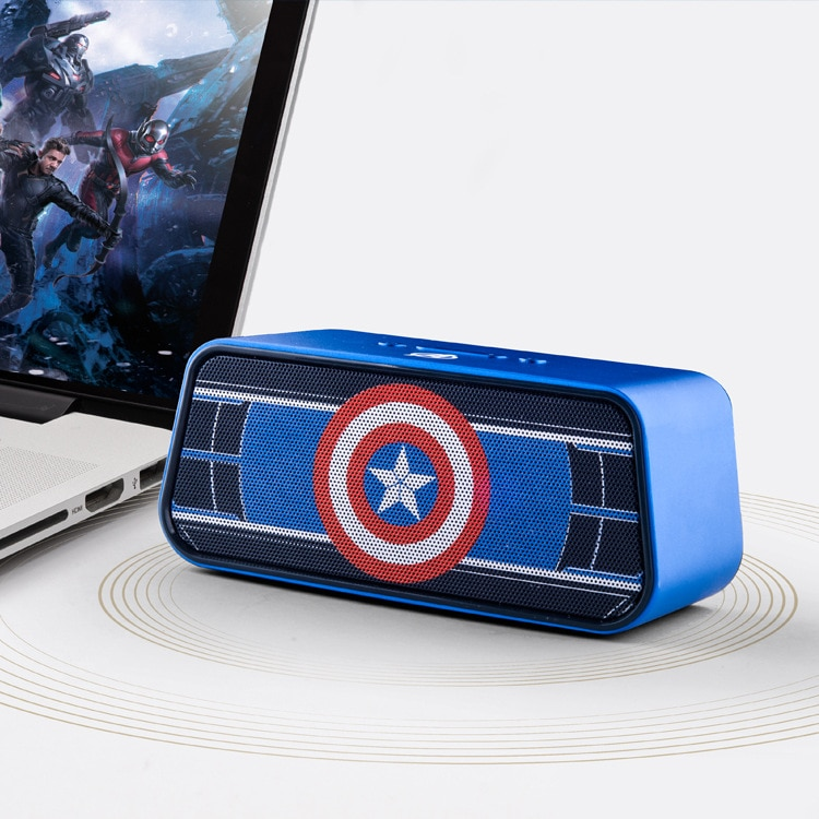Disney Marvel Captain America Wireless Bluetooth Speaker Mini Portable Card Small Usb Speaker Cool Multifunctional Music Player enlarge