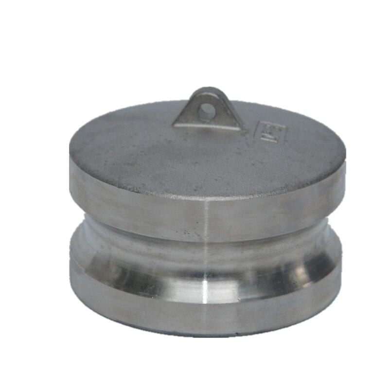 Envío Gratis 1/2 tipo DP enchufe de polvo de acero inoxidable 304 bomba de basura adaptador Camlock acoplador enchufe de polvo Max 250 psi