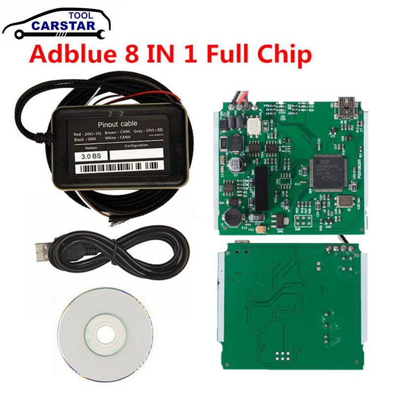 Adblue superior para camiones de varias marcas 9 en 1 actualización Adblue 8 en 1 para 9 camiones Ad emulador azul resistente No necesita ningún Software