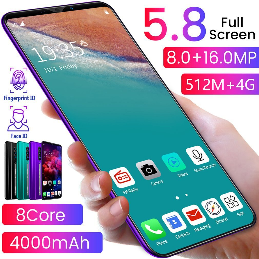 AliExpress - 5.8 Inch Screen Phone Water Drop High Definition Screen 512M+4G 8MP+16MP 8 Core 4000mAh Mobile Phone