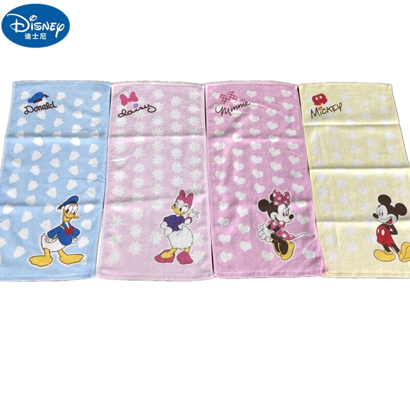 20x50cm Cotton Soft Towel Cartoon Children kids Boy Girl Adult face Towel Minnie Mickey Mouse Donald Duck  Water Absorbing Towel