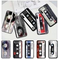 hot classical old cassette tape black rubber phone cover case for redmi s2 4x 5 5a plus 6 6a 7 7a 8 8a 9 9a