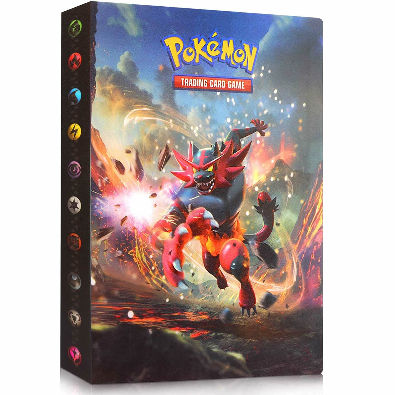 240Pcs Pokemon Album Cards Book TOMY Anime Game Card Collectors Binder Holder Folder Top Loaded List Toys kids Gift For Children