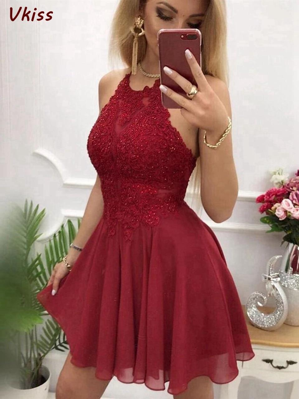 2020 Formal Party Sexy Homecoming Dresses Red Short Prom A-Line Elegant Cocktail Vestidos De Gala Women Graduation Dress