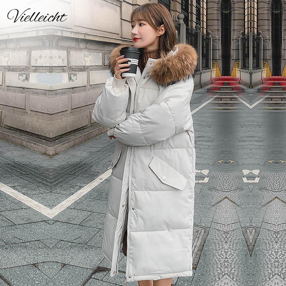 معطف شتوي طويل للنساء من vielleiليتم ارتداؤه في فصل الشتاء, جاكيت شتوي نسائي دافئ بتصميم فضفاض ذو ياقة كبيرة من الفرو موديل 2021