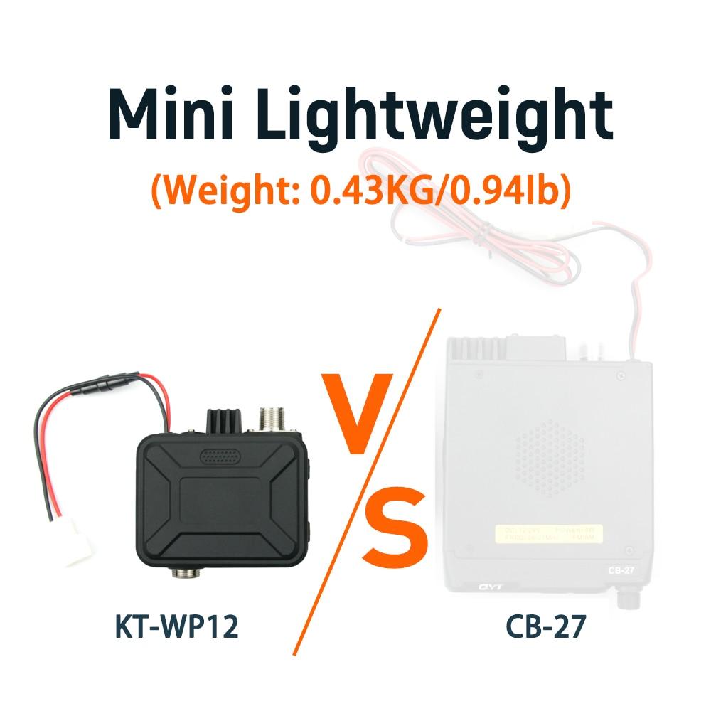 QTY NEW Walkie Talkie KT-WP12 VHF 25W  UHF20W Dual Band VOX Scrambler Hand Microphone Control Ham Mini Mobile Radio enlarge