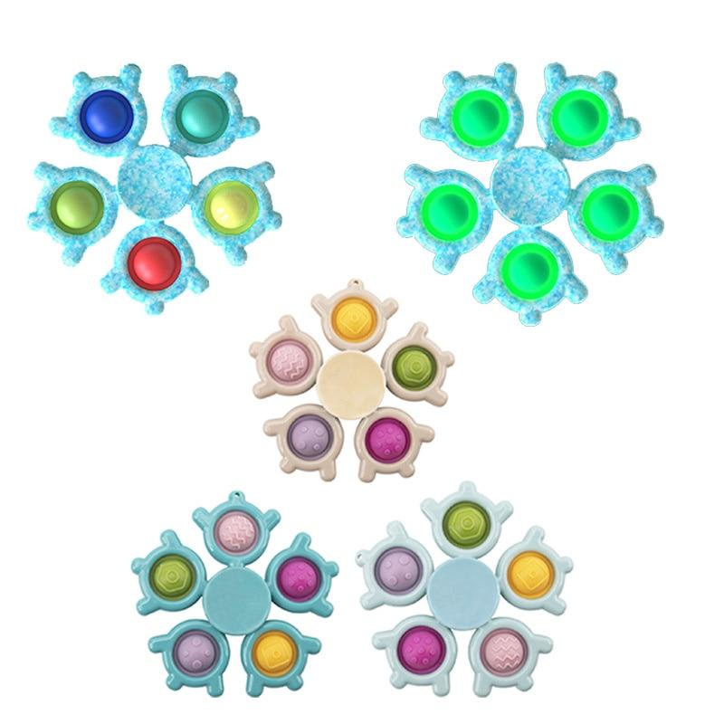 Ледяной Снежный Спиннер, игрушка, простой затемняющий сенсорный ручной Спиннер с пузырьками, силиконовый Спиннер для снятия стресса для вз...