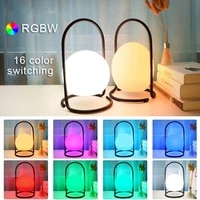 rgbw led night light remote control table lamp creative bedroom bedside decoration atmosphere lamp portable charging colorful