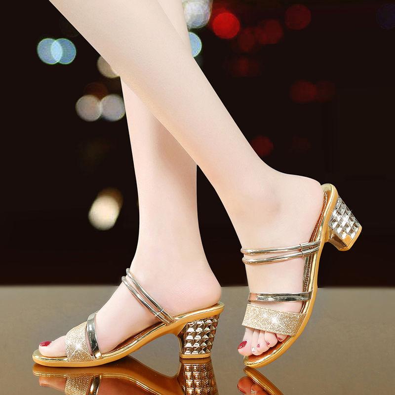 Frauen Nette Silber Hohe Qualität Hohe Ferse Peep Toe Sandalen Dame Klassische Goldene Komfort Sommer Sandalen Alias De Mujer E6007