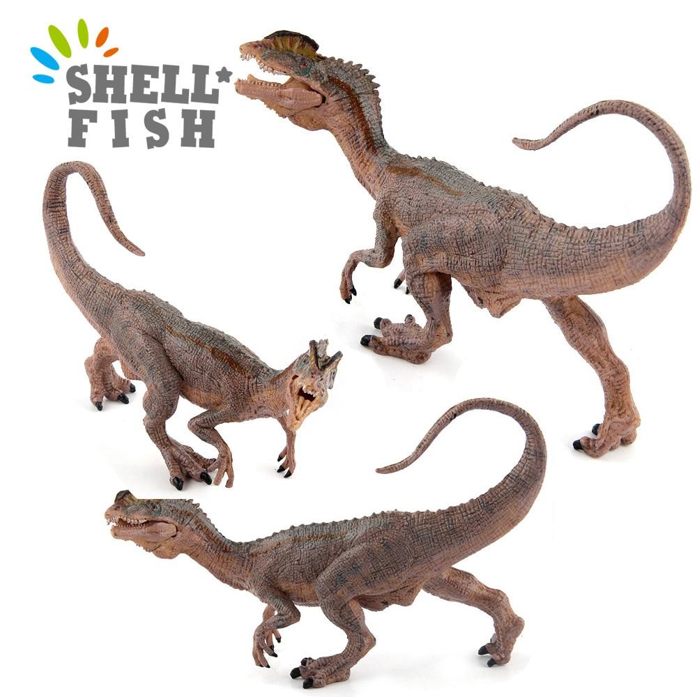 hot soft cute simulation dinosaur Hot Sale Simulation Action Figure Jurassic Dilophosaurus Dinosaur World Animals Model Toys Home Decoration Educational Kids Gift