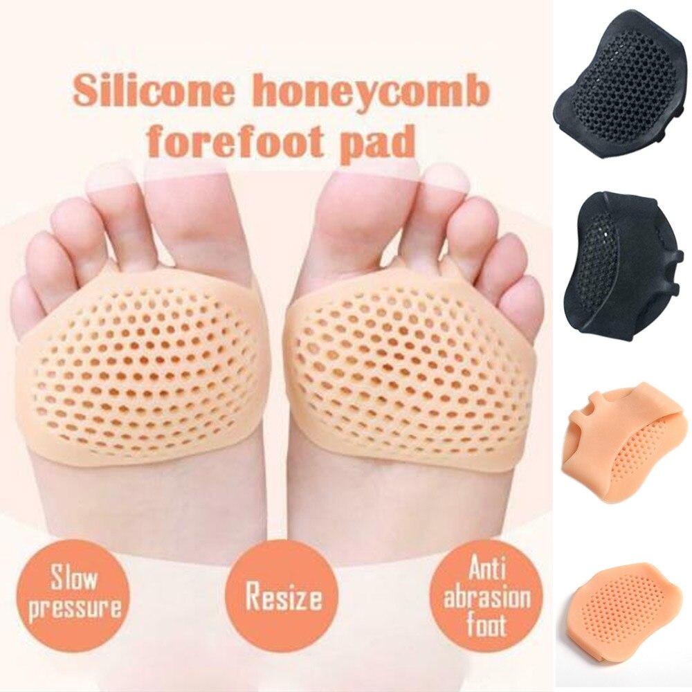 Nuevo diseño hueco de silicona almohadilla para el antepié reutilizable almohadillas cómodas para aliviar el dolor del pie S66