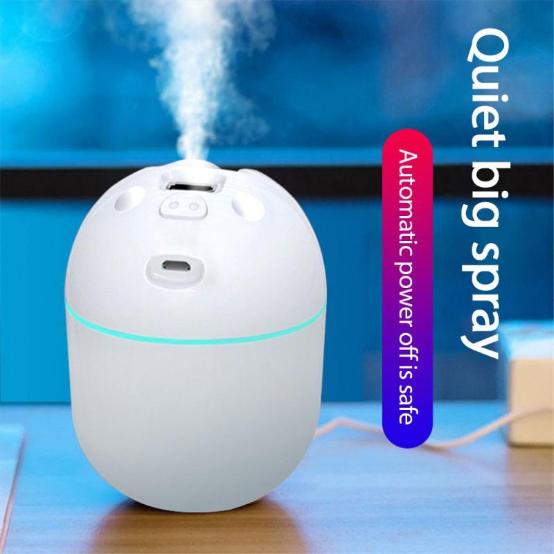 Портативный увлажнитель воздуха, диффузор, увлажнитель воздуха для дома, спальни, автомобильный генератор тумана с USB-разъемом светодиодны...